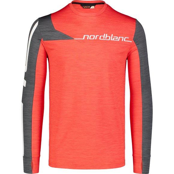Pánské funkční triko NORDBLANC TRY NBWFM7355 ČERVENÁ