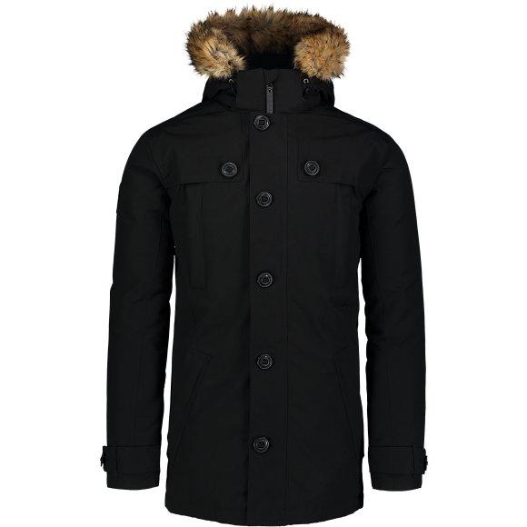 Pánský kabát NORDBLANC NBWJM6919 CRYSTAL ČERNÁ
