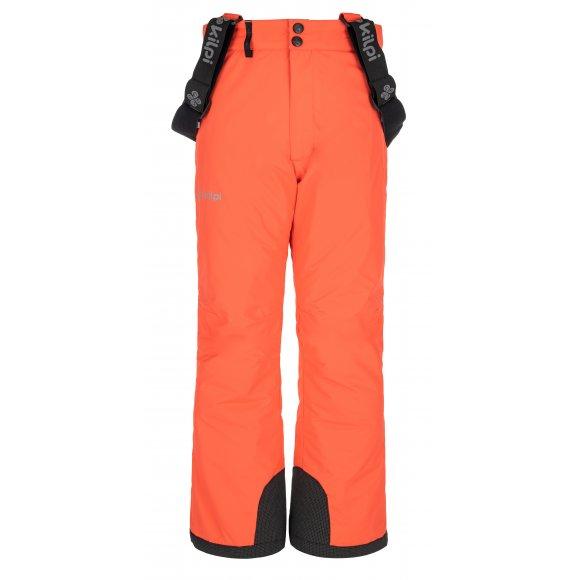 Dívčí lyžařské kalhoty KILPI ELARE-JG NJ0031KI KORÁLOVÁ