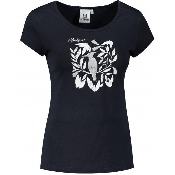 Dámské triko ALTISPORT ALW045122 NÁMOŘNÍ MODRÁ/STŘÍBRNÁ
