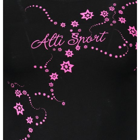 Dámské triko s dlouhým rukávem ALTISPORT ALW009169 ČERNORŮŽOVÁ