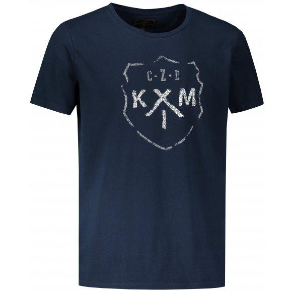 Pánské triko KIXMI LAWREL TMAVĚ MODRÁ