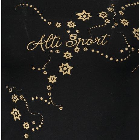 Dámské triko s dlouhým rukávem ALTISPORT ALW009169 ČERNOZLATÁ