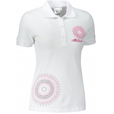 Dámské triko s límečkem ALTISPORT ALW024210 BÍLÁ