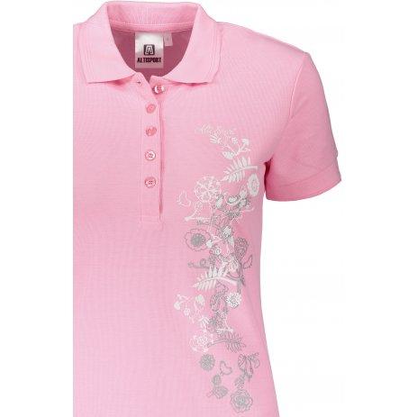 Dámské triko s límečkem ALTISPORT ALW029210 SVĚTLE RŮŽOVÁ