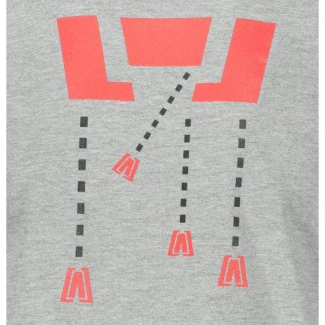 Pánské triko ALTISPORT ALM048129 TMAVĚ ŠEDÝ MELÍR