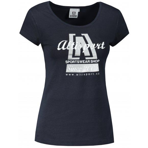Dámské triko ALTISPORT ALW047122 NÁMOŘNÍ MODRÁ/STŘÍBRNÁ