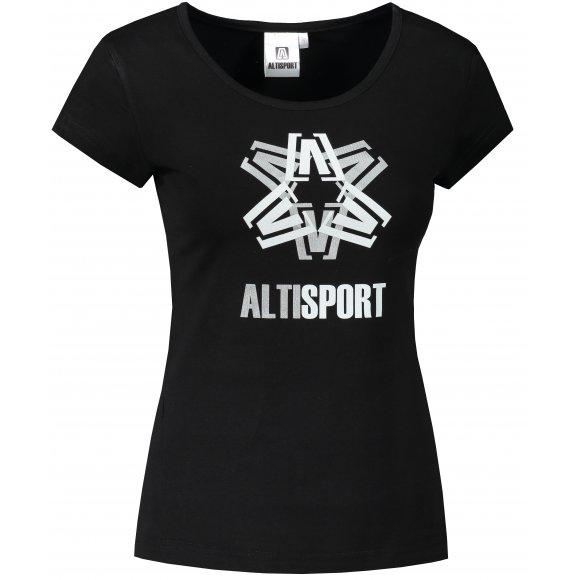 Dámské triko ALTISPORT ALW046122 ČERNOSTŘÍBRNÁ