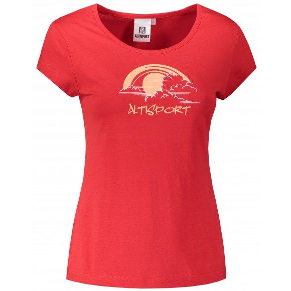 Dámské triko ALTISPORT ALW044122 ČERVENÁ