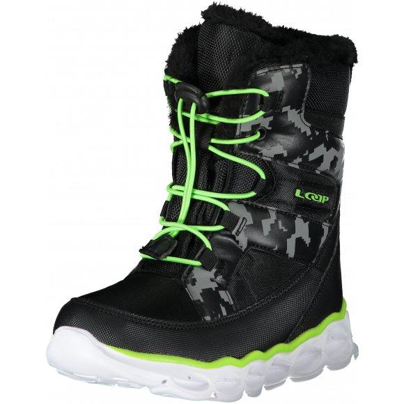 Dětské zimní boty LOAP ENIMA ČERNÁ
