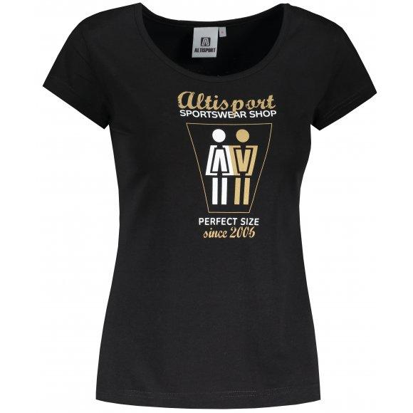 Dámské triko ALTISPORT ALW049122 ČERNOZLATÁ