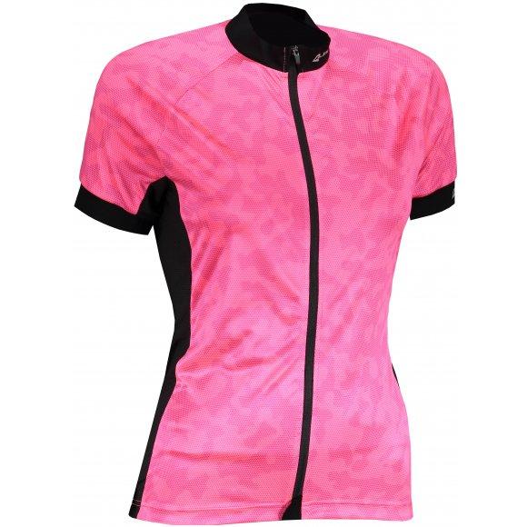 Dámský cyklistický dres ALPINE PRO MARKA 2 LTST723 RŮŽOVÁ