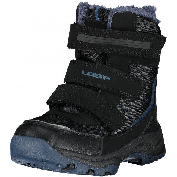 Dětské zimní boty LOAP SNEEKY ČERNÁ/MODRÁ