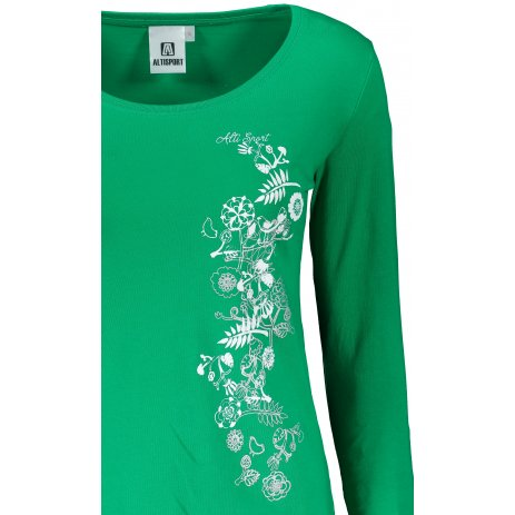 Dámské triko s dlouhým rukávem ALTISPORT ALW029169 STŘEDNĚ ZELENÁ