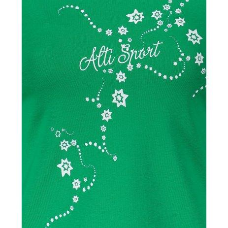 Dámské triko s dlouhým rukávem ALTISPORT ALW009169 STŘEDNĚ ZELENÁ