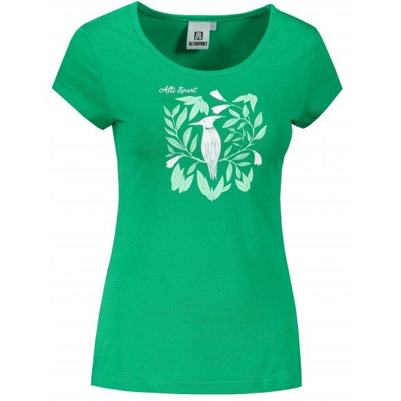 Dámské triko ALTISPORT ALW045122 STŘEDNĚ ZELENÁ