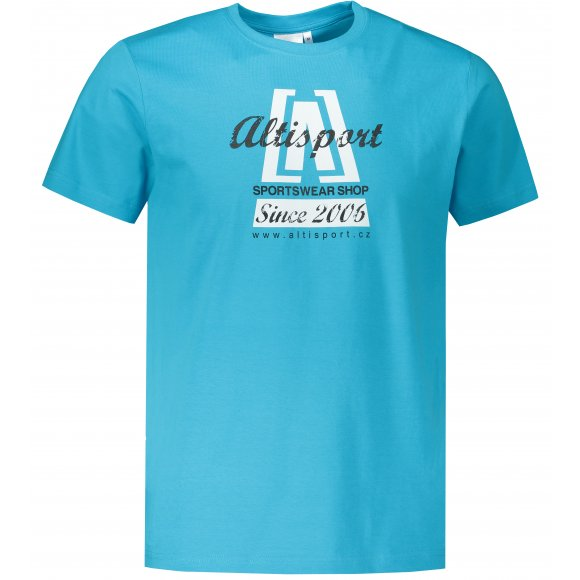 Pánské triko ALTISPORT ALM047129 TYRKYSOVÁ