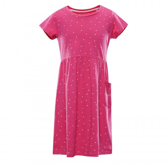 Dívčí šaty ALPINE PRO ZENNO KSKT083 RŮŽOVÁ