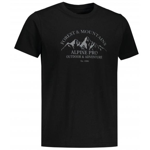 Pánské triko ALPINE PRO AMIT 8 MTST583 ČERNÁ