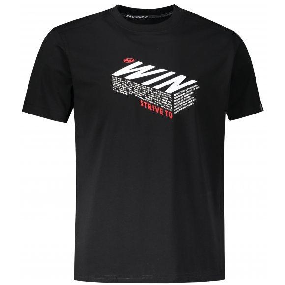 Pánské triko PEAK ROUND NECK T SHIRT FW602233 BLACK
