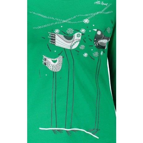 Dámské triko s dlouhým rukávem ALTISPORT ALW043169 STŘEDNĚ ZELENÁ
