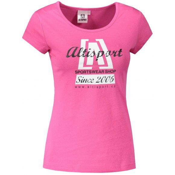 Dámské triko ALTISPORT ALW047122 PURPUROVÁ