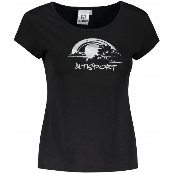 Dámské triko ALTISPORT ALW044122 ČERNOSTŘÍBRNÁ