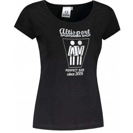Dámské triko ALTISPORT ALW049122 ČERNOSTŘÍBRNÁ