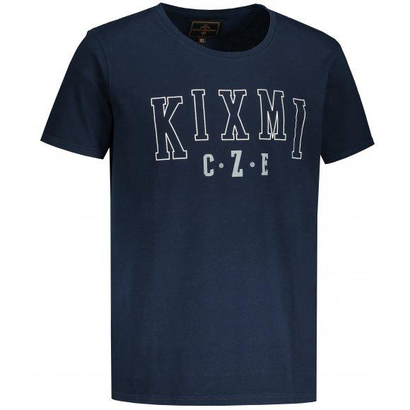 Pánské triko KIXMI LINAS TMAVĚ MODRÁ