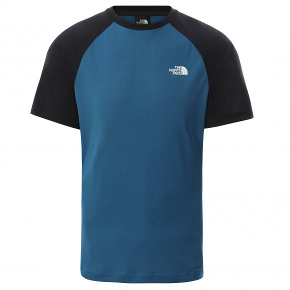 Pánské funkční triko THE NORTH FACE M TANKEN RAGLAN TEE TNF BLACK/MOROCCAN BLUE