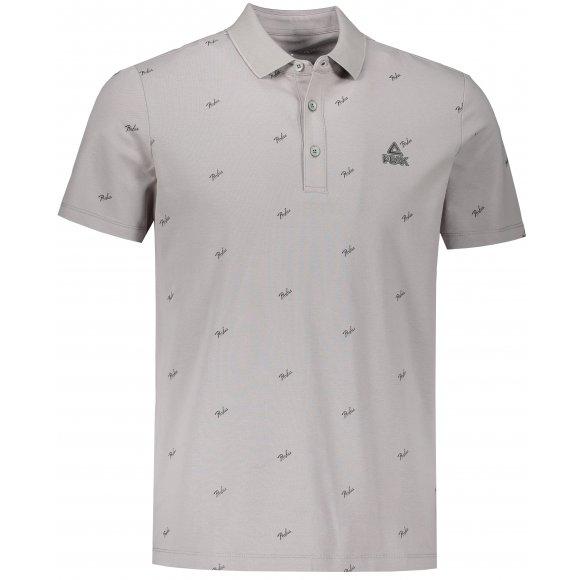 Pánské triko s límečkem PEAK POLO T SHIRT FW602271 MIDDLE GREY