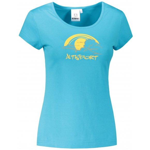 Dámské triko ALTISPORT ALW044122 TYRKYSOVÁ