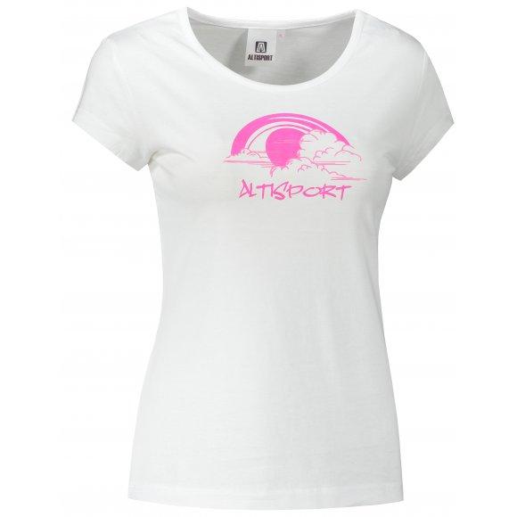 Dámské triko ALTISPORT ALW044122 BÍLÁ