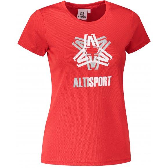 Dámské funkční triko ALTISPORT ALW046140 ČERVENÁ