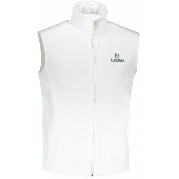 Pánská softshellová vesta ALTISPORT ALM006517 BÍLÁ