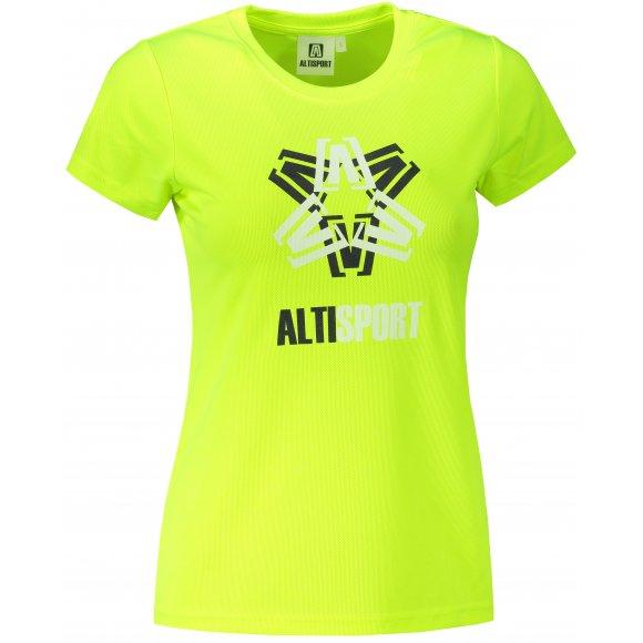 Dámské funkční triko ALTISPORT ALW046140 NEON YELLOW