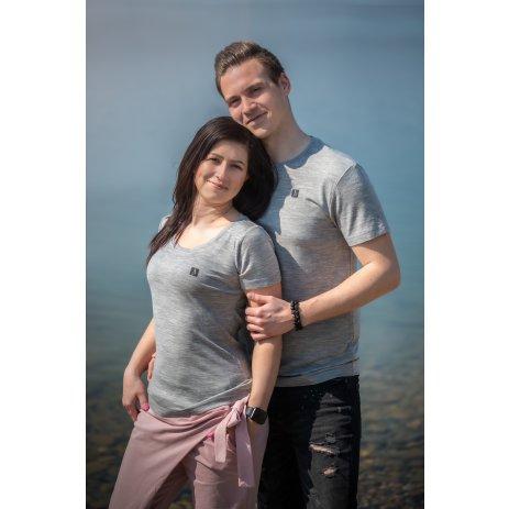 Dámské premium triko ALTISPORT MERINO ALW065158 TMAVĚ ŠEDÝ MELÍR