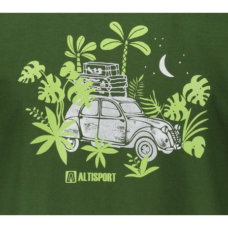 Pánské triko ALTISPORT ALM059129 LAHVOVĚ ZELENÁ