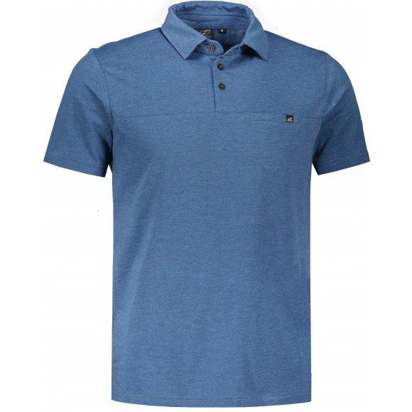 Pánské triko s límečkem HANNAH KAJAN ENSIGN BLUE MEL