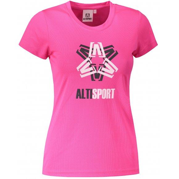 Dámské funkční triko ALTISPORT ALW046140 NEON PINK