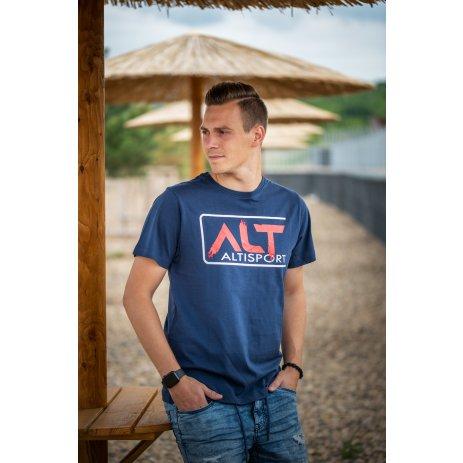 Pánské triko ALTISPORT LEKAN MTST644 TMAVĚ MODRÁ