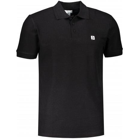 Pánské triko s límečkem ALTISPORT ALM065203 ČERNOBÍLÁ