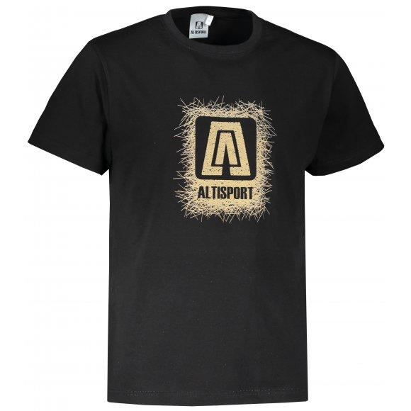 Pánské triko ALTISPORT ALM064129 ČERNOZLATÁ