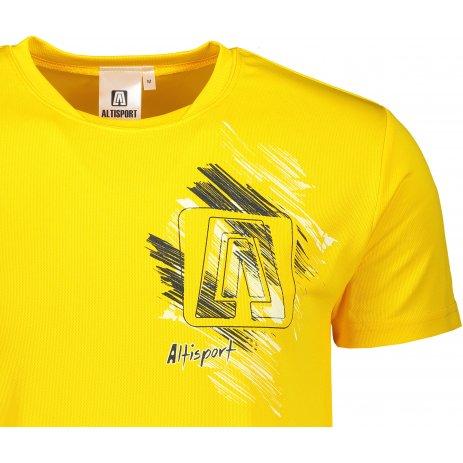 Pánské funkční triko ALTISPORT ALM032124 ŽLUTÁ
