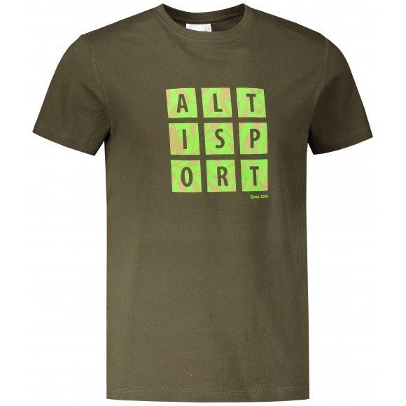 Pánské triko ALTISPORT ALM063129 MILITARY