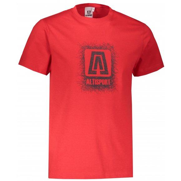 Pánské triko ALTISPORT ALM064129 ČERVENÁ