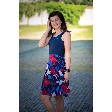 Dámské šaty ALTISPORT NADINA LSKT325 TMAVĚ MODRÁ