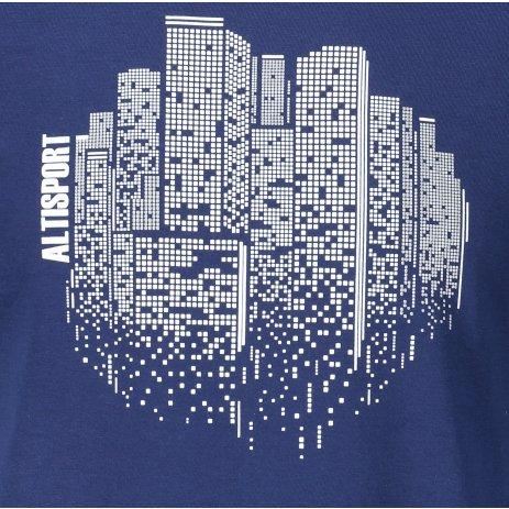 Pánské triko ALTISPORT ALM060129 PŮLNOČNÍ MODRÁ
