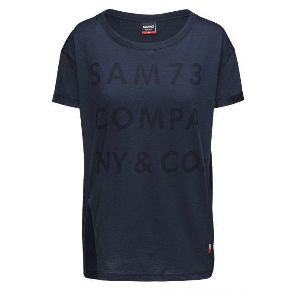 Dámské triko s krátkým rukávem SAM 73 NINA WT 818 TMAVĚ MODRÁ