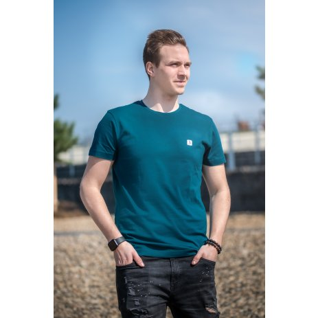 Pánské premium triko ALTISPORT ALM065153 PETROLEJOVÁ